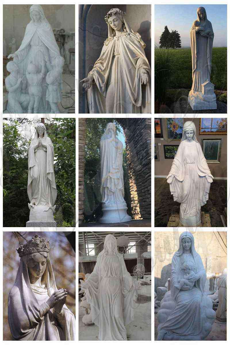 life size Mary-marble-statue for sale