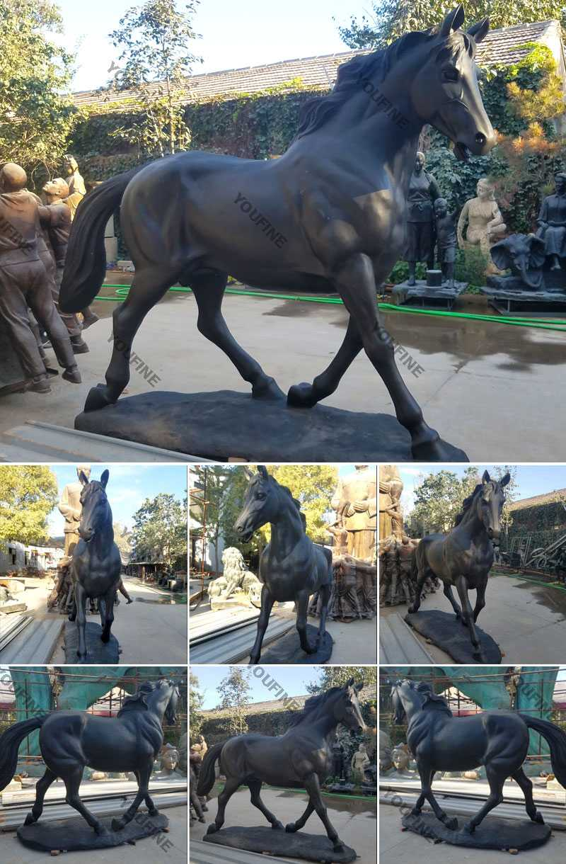 life size bronze horse statue for sale