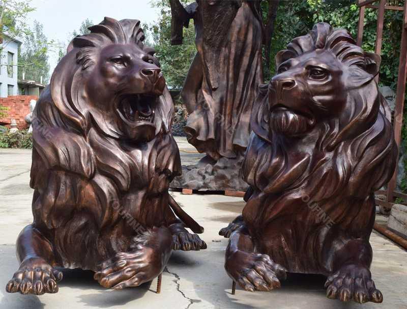 life size casting bronze lion statue for sale