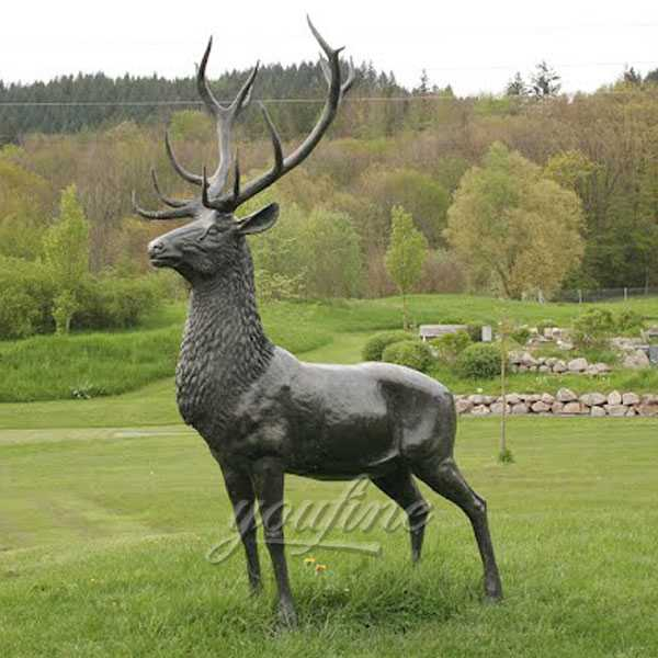 life size outdoor deer statues for yard