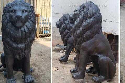 lion statue bronze for sale