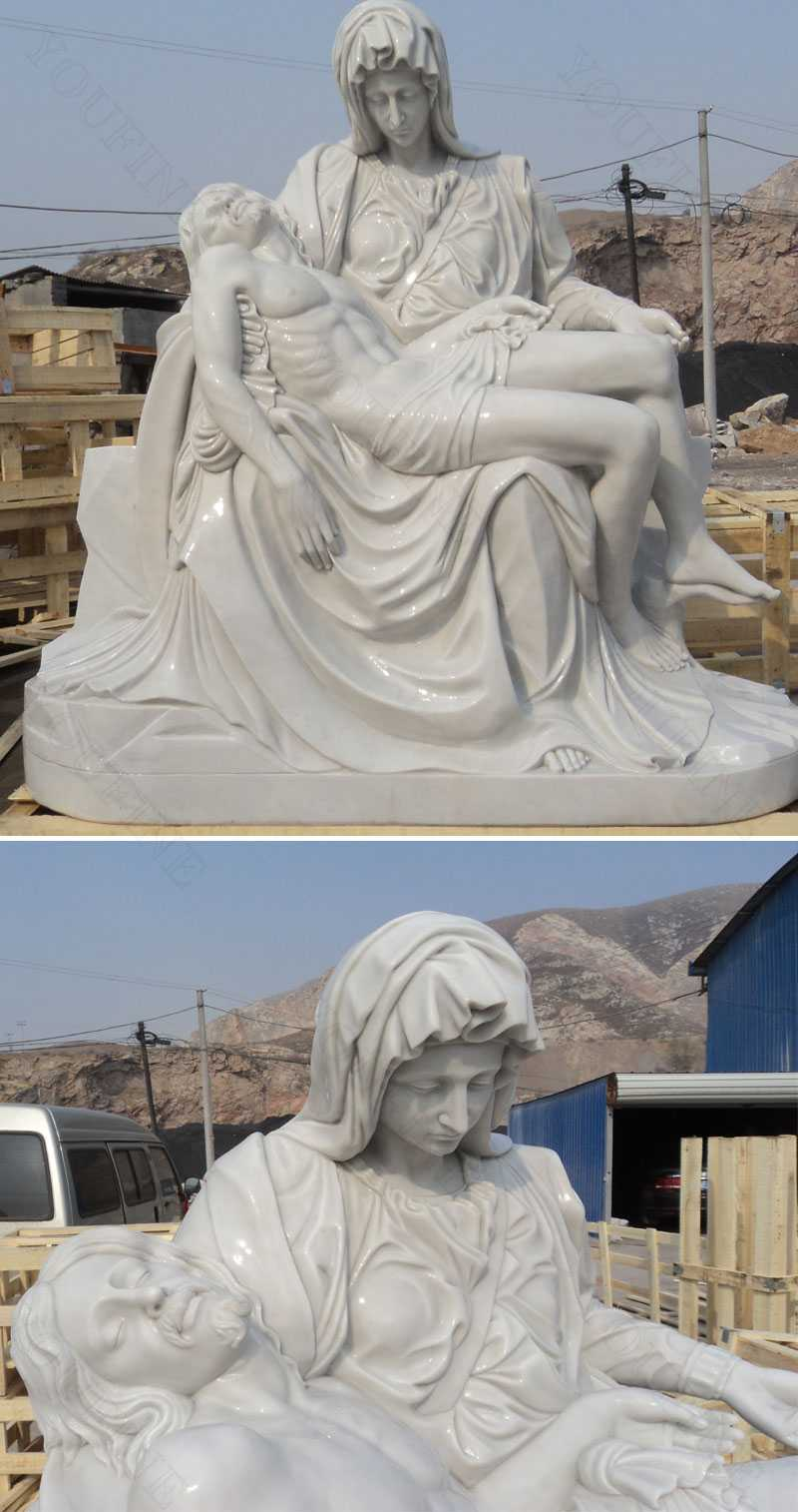 The World Famous Statue Of White Marble Pieta Statue You