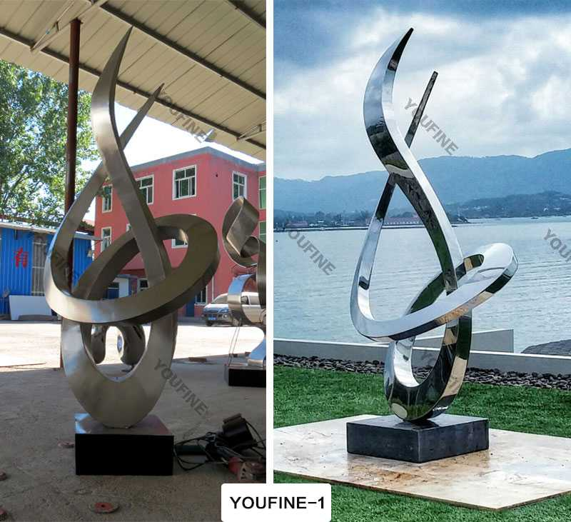 modern abstract stainless steel for sale