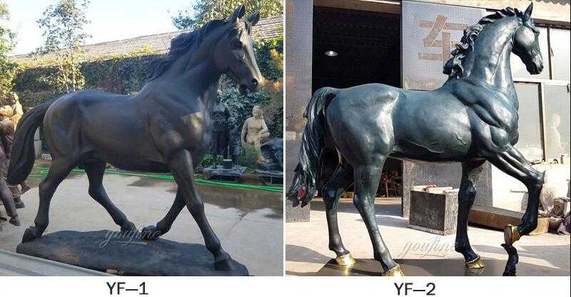 outdoor metal horse sculpture for sale
