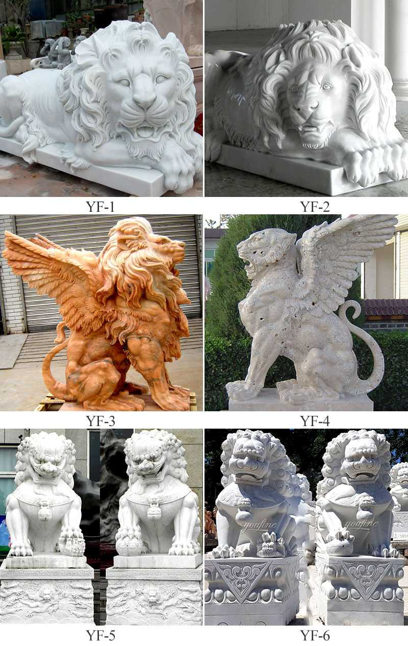 stone lion statues for front porch