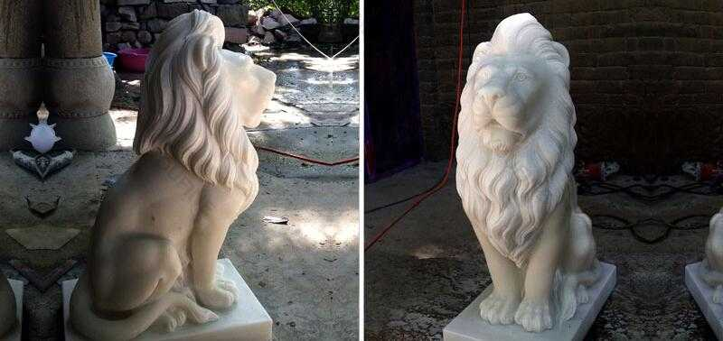 white marble lion statue for sale