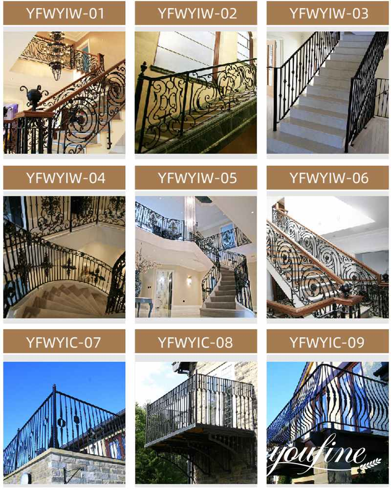 wrought iron modern balcony railing