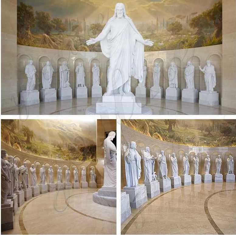 garden marble st charbel statues