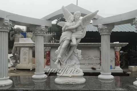 Beautiful Marble Angel Apollo and Daphne Monument for Alice from France