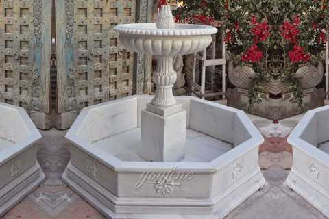 Indoor small tired marble water fountains for garden decor