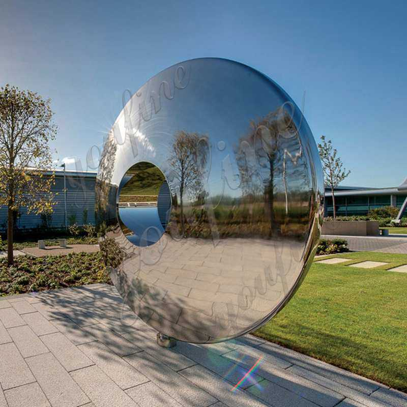 Large Stainless Steel Mirror Sculpture Contemporary Outdoor Sculptures