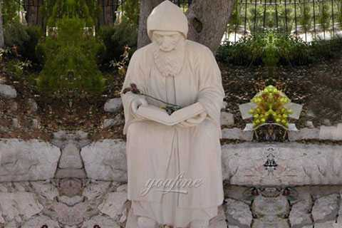 Outdoor religious garden marble st charbel statues to buy