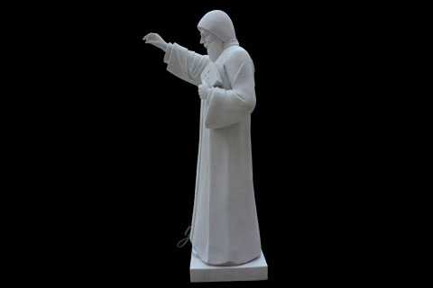 Outside full size white marble catholic statues of st charbel to buy
