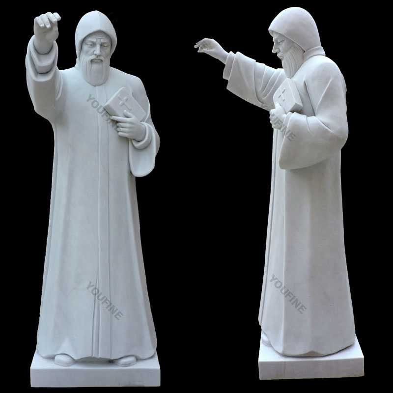 St Charbel white marble statues for sale