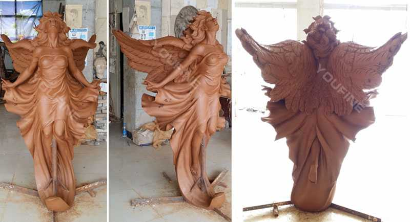 custom made sexy angel bronze statue for sale