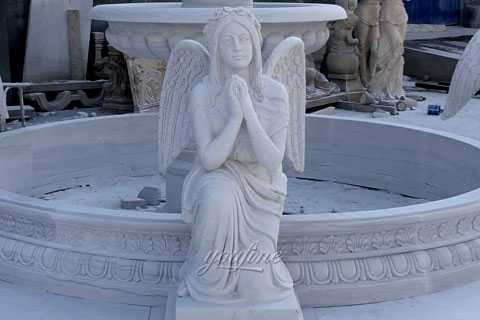 water fountain with weeping angel statues for sale