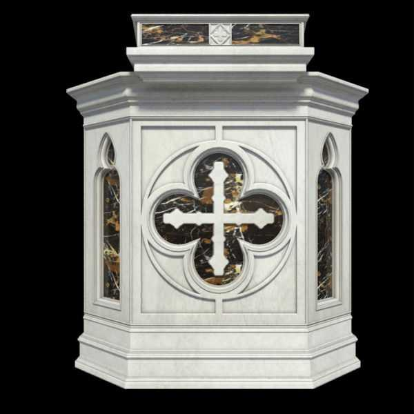 White marble church pulpit for sale