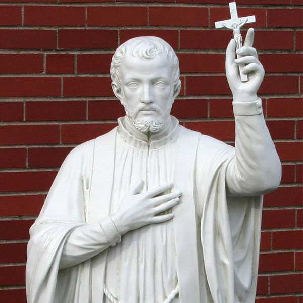 150cm biblical characters statue of st Francis Xavier carved from marble