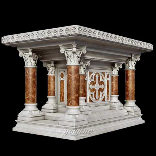 Religious statues of marble catholic church altar stand to buy CHS-360