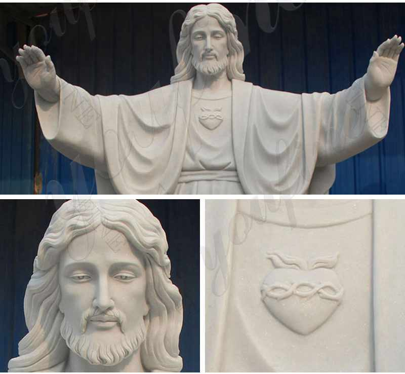Catholic Statue Sacred Heart Of Jesus Sculpture