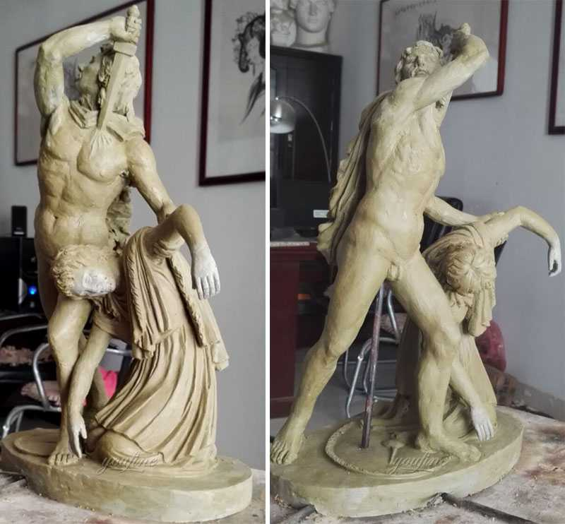 Clay model of Remo famous sculptures Gaul killing himself and his wife