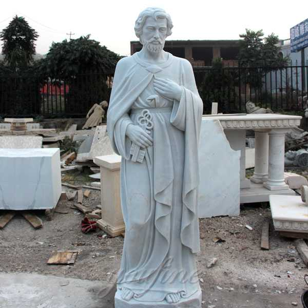 Famous Catholic Church Saint Marble Statue Pope Peter Designs for Sale for Outdoor Decoration