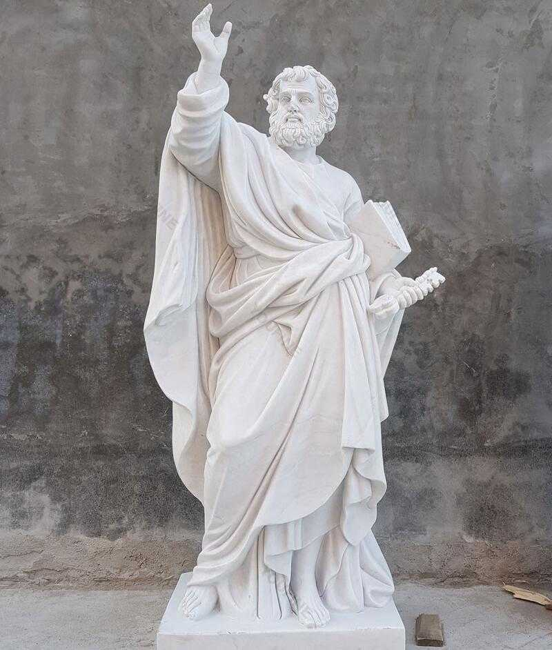 Famous Catholic Religious Garden Sculpture of The First Catholic Pope Saint Peter Statue for Outdoor Decoration for Sales