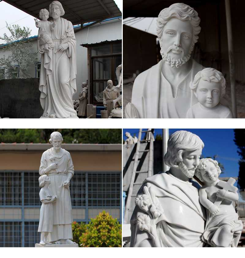 Famous Life Size Catholic Marble Statue the Father of Jesus Saint Joseph Statues for Sale