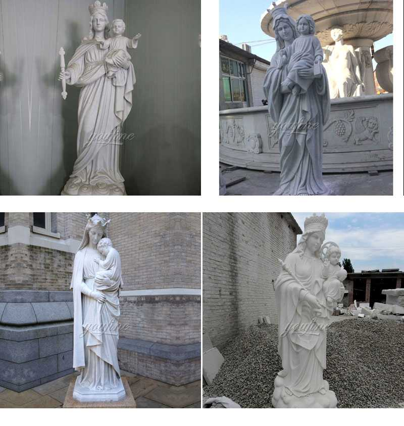 Famous Life Size Shrine of Our Lady of Perpetual Statue for Sales Outdoor Decoration