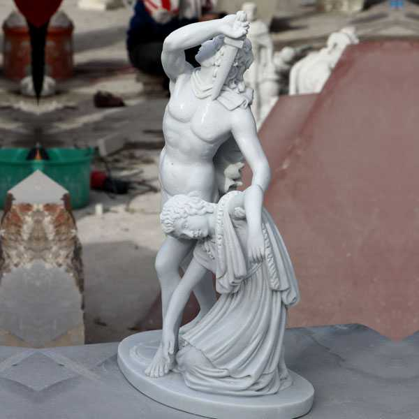 Famous marble carving statues of Ludovisi Gaul and his wife made for Vladimira Germany–MOKK-19