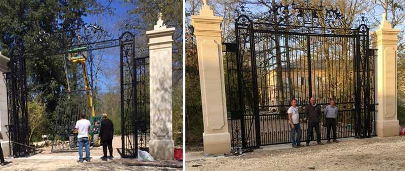 Installation of the iron gate