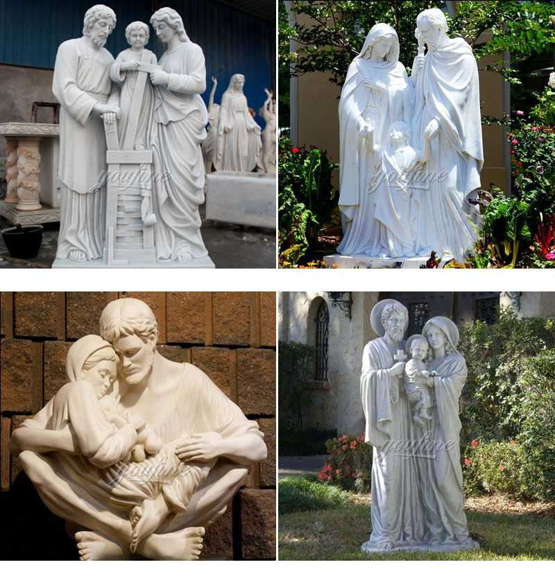 Large Catholic Statue Life Size Marble Famous Holy Family Outside Statue Design for Garden Decor for Sale