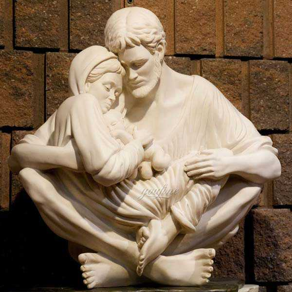 Large Catholic Statue Life Size Marble Famous Holy Family Outside Statue Designs for Garden Decor for Sale