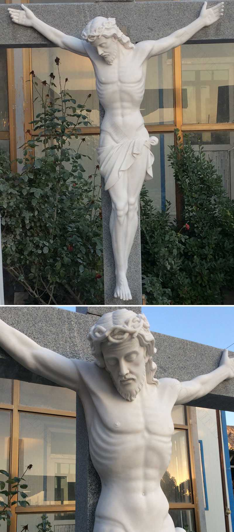 Life Size Christian Catholic Church Famous Sculpture Crosses and Crucifixes with Jesus Statue for Sales