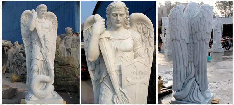 Life Size Famous Catholic Church Statue Archangel of St Michael Outdoor Statues for Sales