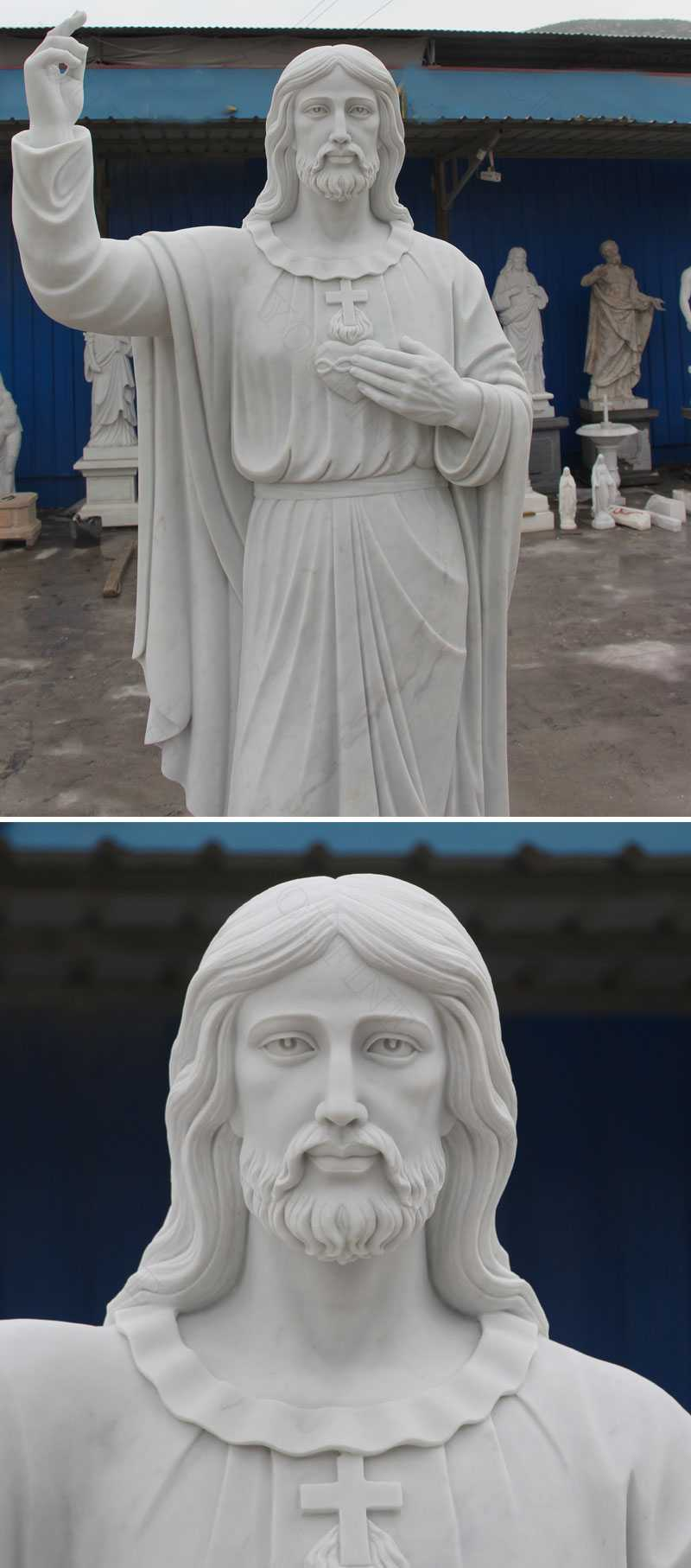 Life Size Outdoor Religious Statue Jesus Statue for Sale for Church Decoration