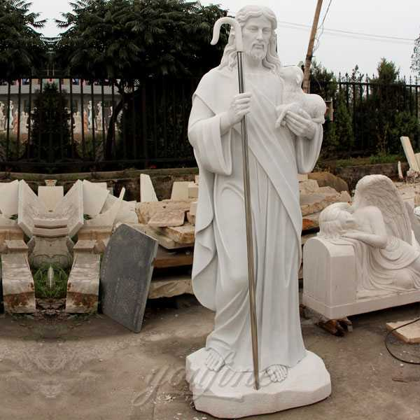 Life size marble shepherd statues of jesus for sale