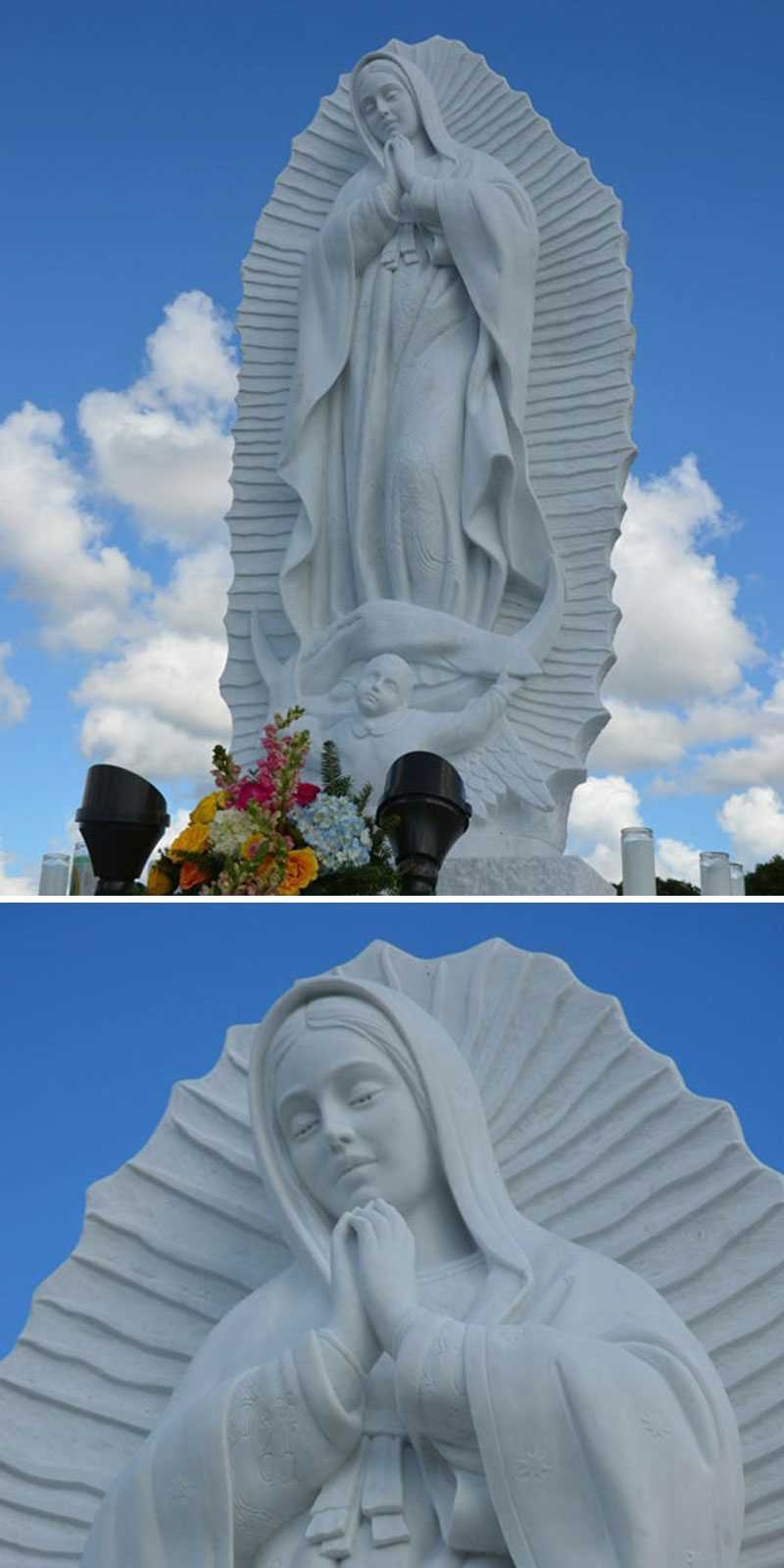 Our-Lady-of-Guadalupe-marble-statues-for-memorial-garden-at-church-designs for sale