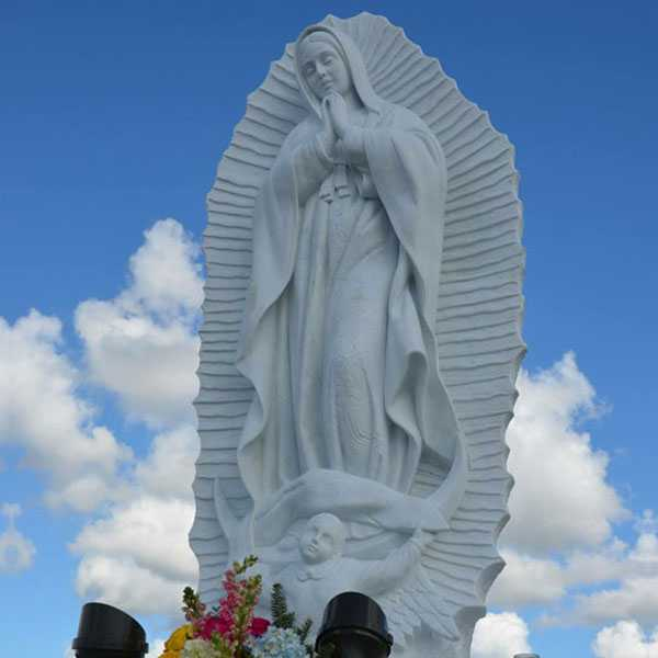 Our Lady of Guadalupe religious marble statue