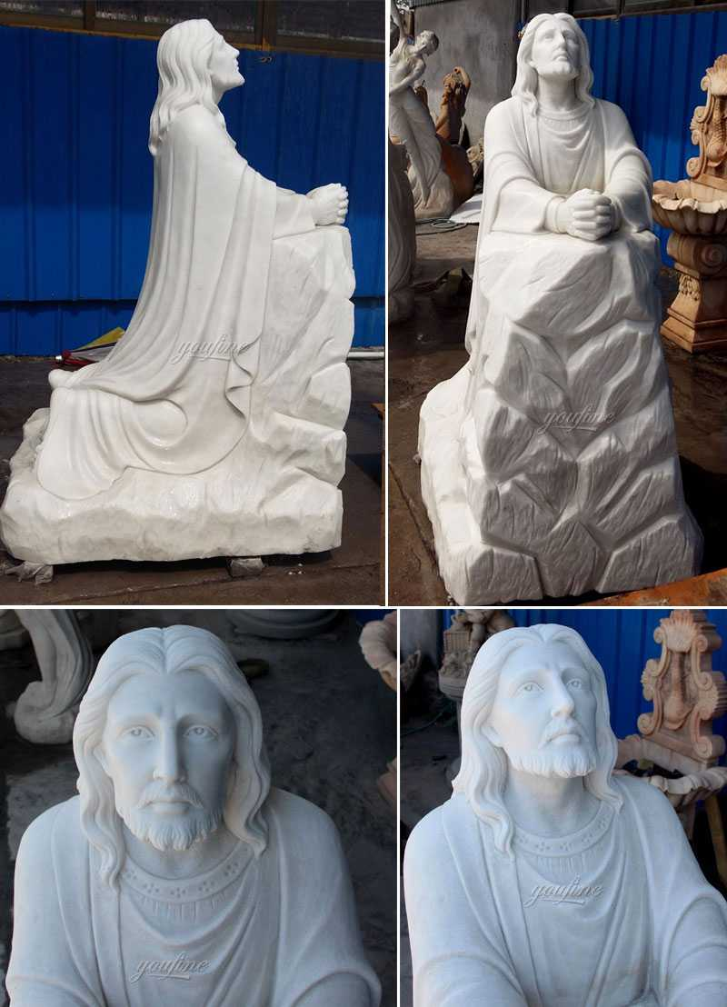 Outdoor Famous Life Size Catholic White Marble Jesus
