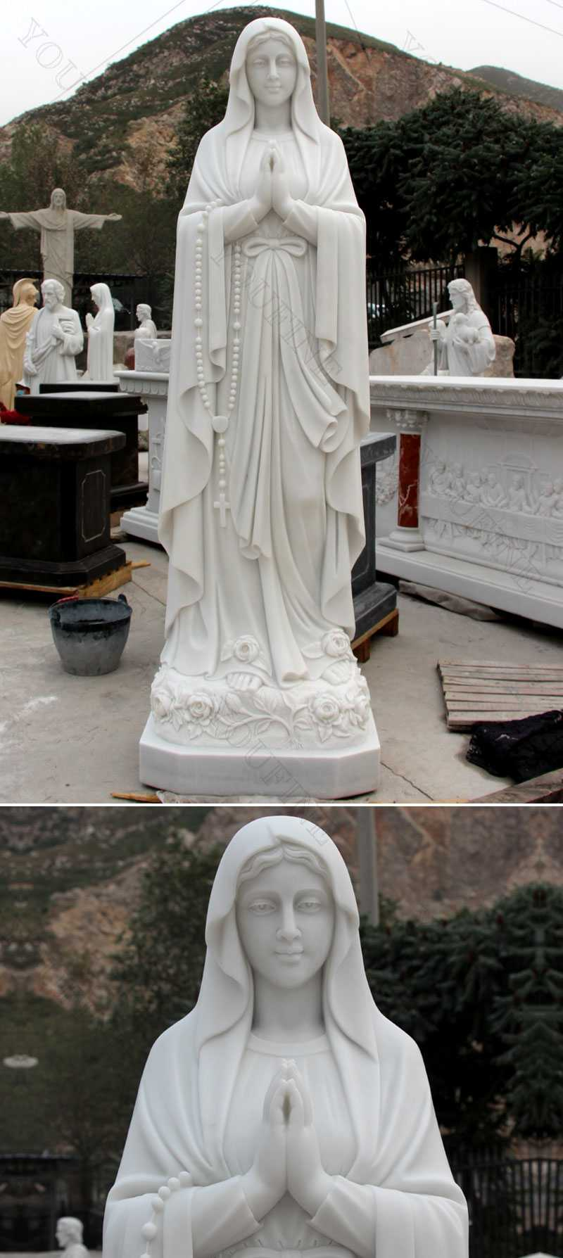 Outdoor Famous Life Size Religious Statue Our Lady of Lourdes Statue for Sale for Garden Decoration