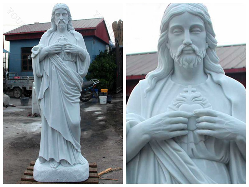 Outdoor Life Size Catholic Statue Sacred Heart Of Jesus Sculpture