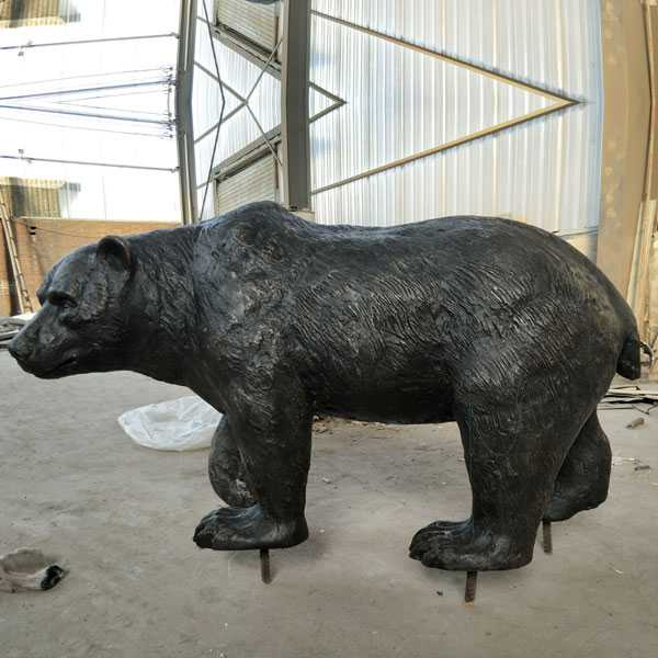 Outdoor animal statue life size bronze bear statue for sale for garden decoration