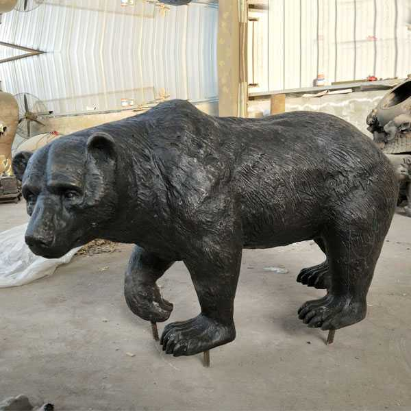 Outdoor animal statue life size bronze bear statues for sale for garden decor