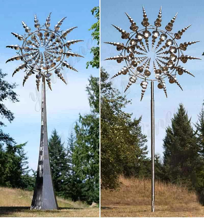 Outdoor-stainless-steel-kinetic-art-sculpture-by-Anthony-howe-design-details
