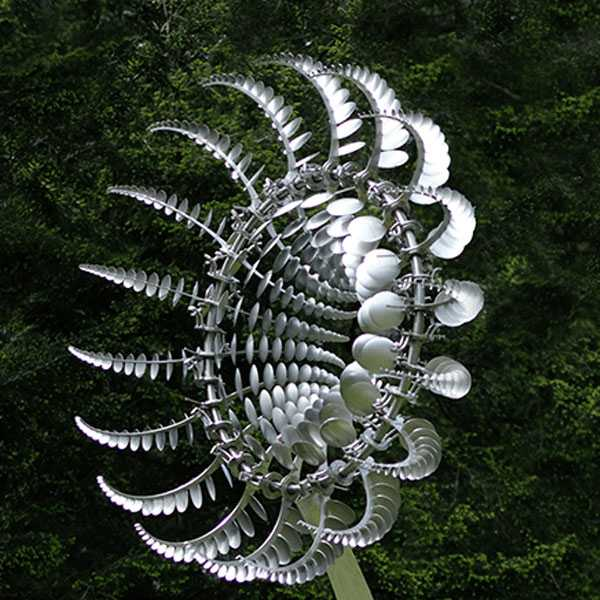 Stainless steel Anthony howe kinetic wind sculpture art design details