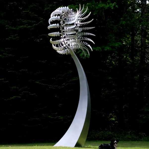 Stainless steel Anthony howe kinetic wind sculpture art design outdoor