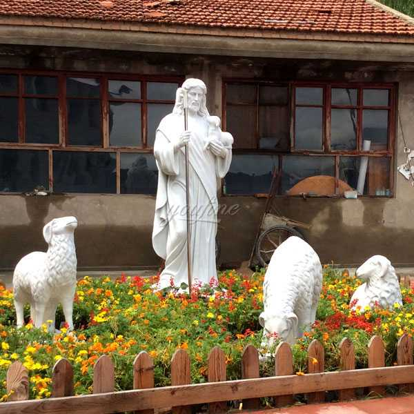 Life Size Guardian  Good Shepherd for Garden Shepherd Sculpture for Church
