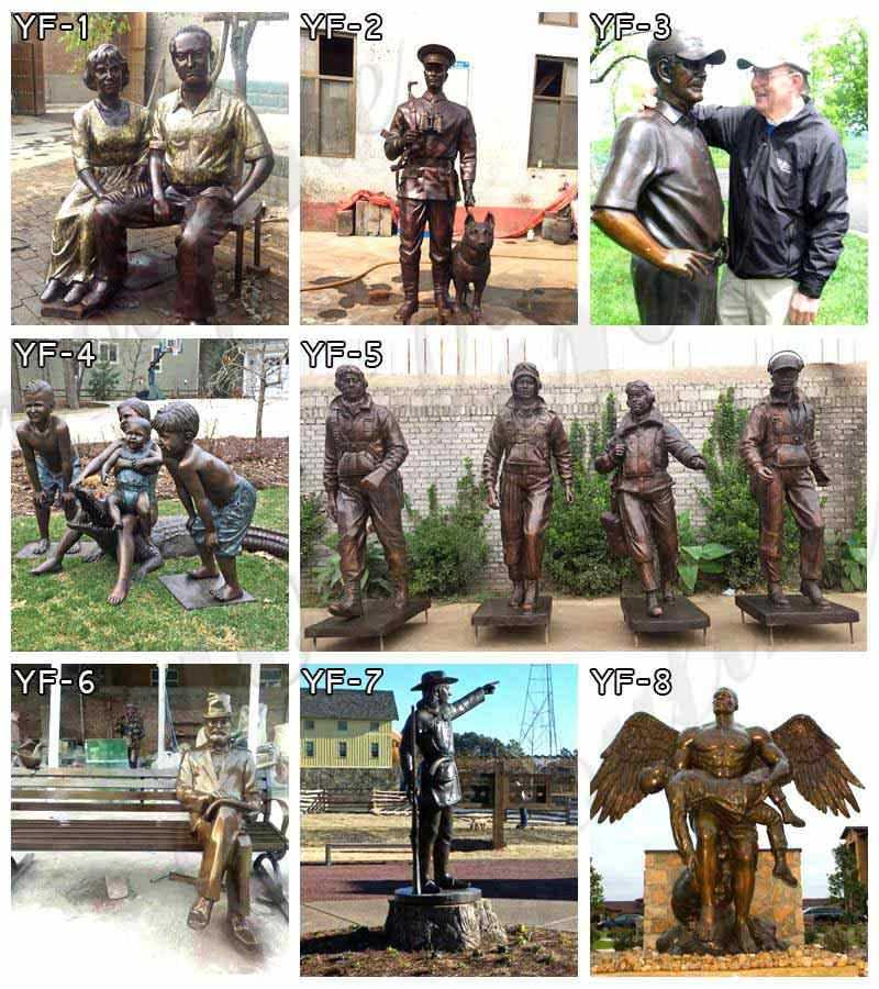 bronze angel garden statue