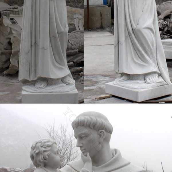 catholic manufacturer direct supply custom made catholic statue of Saint Anthony of padua with infant christ jesus marble statue designs